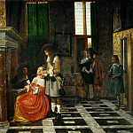Pieter de Hooch -- The Card Players, Part 3 Louvre