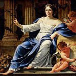 Simon Vouet -- Polyhymnia, Muse of Eloquence, Part 3 Louvre