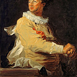Jean-Honoré Fragonard -- Portrait of Anne-François d'Harcourt, Duke of Beuvron, as a Character of the Comédie Italienne, Part 3 Louvre