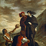 Eugène Delacroix -- Hamlet and Horatio in the Graveyard, Part 3 Louvre