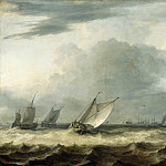 Allart van Everdingen -- Sailing Vessels in Stormy Weather , Part 3 Louvre