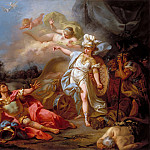 Jacques-Louis David -- Combat between Minerva and Mars, Part 3 Louvre