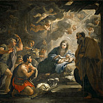 Luca Giordano -- Adoration of the Shepherds, Part 3 Louvre