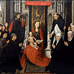 Hans Memling -- Virgin of Jacob Floreins, Part 3 Louvre