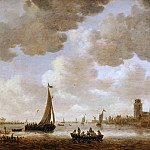 Jan van Goyen -- View of Dordrecht with the Grote Kerk, Part 3 Louvre