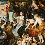 Peter Paul Rubens -- Medici Cycle: Happiness of Regency, Part 3 Louvre