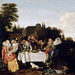 Dirck Hals -- Banquet in the Country , Part 3 Louvre