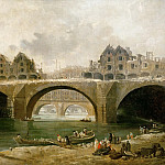 Demolition des maisons du pont Notre-Dame, en 1786 (). Oil on canvas 73 x 140 cm-RF 1947-38, Hubert Robert