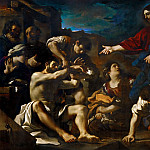 Guercino -- The Resurrection of Lazarus, Part 3 Louvre