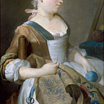 Part 3 Louvre - Jean-Étienne Liotard -- Young girl, embroidering