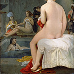 Jean-Auguste-Dominique Ingres -- Small Bather. Interior of a Harem, Part 3 Louvre