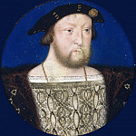 Lucas Horenbout -- Portrait of King Henry VIII, Part 3 Louvre