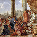 Noël Coypel -- Ptolemy Philadelphos grants freedom to the Jews, Part 3 Louvre