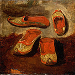 Part 3 Louvre - Eugène Delacroix -- Study of babouches (Turkish slippers)