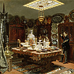 Part 3 Louvre - Arthur Henry Roberts -- View of the pieces of art in the apartment of Monsieur Sauvageot, 56 Faubourg Poissonnière, before transfer of his collection to the Louvre
