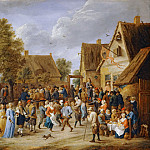 Village festival with aristocratic couple, David II Teniers