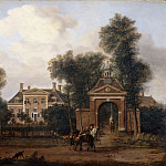 Jan van der Heyden, figures by Adriaen van de Velde -- Harteveld House in Maarssen, near Vecht , Part 3 Louvre