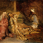 Théodore Chassériau -- Interior of the Harem, Part 3 Louvre