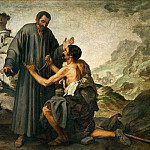 Part 3 Louvre - Bartolomé Estebán Murillo -- Brother Junipero and the Beggar
