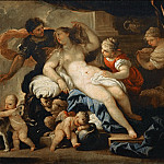 Luca Giordano -- Mars and Venus in the Forge of Vulcan, Part 3 Louvre
