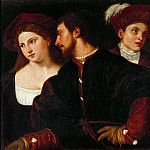 Titian -- Self-Portrait with Friends, Part 3 Louvre