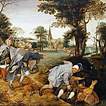 Pieter Brueghel II -- The Blind Leading the Blind, Part 3 Louvre