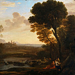 Part 3 Louvre - Claude Lorrain -- Landscape with Paris and Oenone (The Ford)