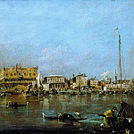 Francesco Guardi -- Canal of San Marco with the Piazza San Marco in the Background, Part 3 Louvre