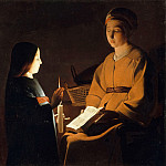 After Georges de La Tour -- Education of the Virgin, Part 3 Louvre