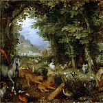 Jan Brueghel the elder -- Earthly Paradise, Part 3 Louvre