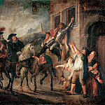 Charles-Antoine Coypel -- Don Quixote strapped to a window, Part 3 Louvre