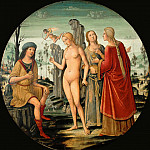 Girolamo di Benvenuto -- Judgment of Paris, Part 3 Louvre