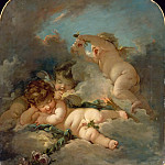 Studio of François Boucher -- Love's Sleep , Part 3 Louvre
