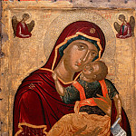 Anonymous Cretan painter -- The Virgin 'Glykophilousa', Part 3 Louvre