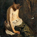 Part 3 Louvre - Constant Dutilleux -- Child with butterfly (portrait of J. Dutilleux, the artist's son)