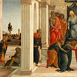 Filippino Lippi -- Three scenes from the life of Esther, Part 3 Louvre