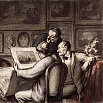 Part 3 Louvre - Honoré Daumier -- The Print Lovers (Les Amateurs d'estampes)