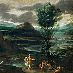 Domenichino -- Herminia among the shepherds, Part 3 Louvre