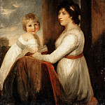 Attributed to John Hoppner -- Lady Musgrave with a Child, Part 3 Louvre