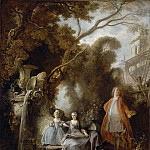 Jacques de Lajoue II -- The Painter and his Family, Part 3 Louvre