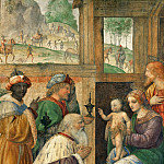 Bernardino Luini -- Adoration of the Magi, Part 3 Louvre