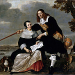 Nicolaes Van Helt Stockade -- Portrait of Hendryck Henck and his Wife Catharina Brouwers, Part 3 Louvre