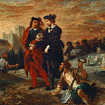 Eugène Delacroix -- Hamlet and Horatio at the cemetary, Part 3 Louvre