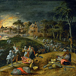 Part 3 Louvre - Gillis Mostaert -- A scene of war and fire