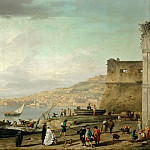 Claude-Joseph Vernet -- View of the Gulf of Naples, Part 3 Louvre