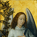 Hans Memling -- Angel Carrying and Olive Branch, Symbol of Divine Peace, Part 3 Louvre