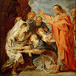 Rubens, Peter Paul -- Resurrection of Lazarus, sketch for the Berlin painting destroyed in 1945. Wood, 37 x 28 cm R.F.188, Part 3 Louvre