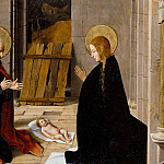 Josse Lieferinxe -- Adoration of the Child, Part 3 Louvre
