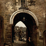 Part 3 Louvre - Jean-Baptiste-Camille Corot -- The Gate of Jerusalem at Dinan