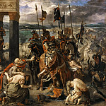 Eugène Delacroix -- Taking of Constantinople by the Crusaders , also called 'Entry of the Crusaders into Constantinople', Part 3 Louvre